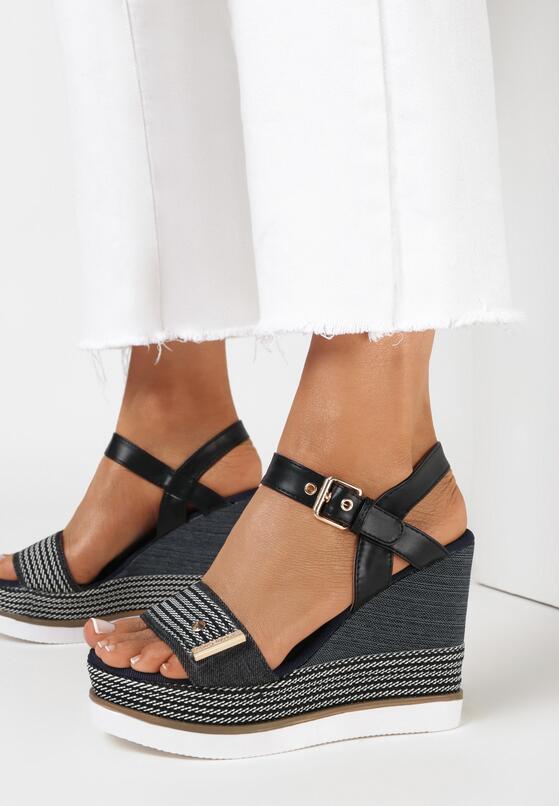 Czarne Sandały Talogana