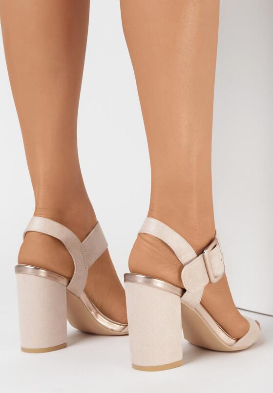 Beżowe Sandały Adophaia