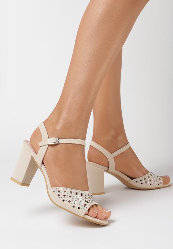 Beżowe Sandały Misenia