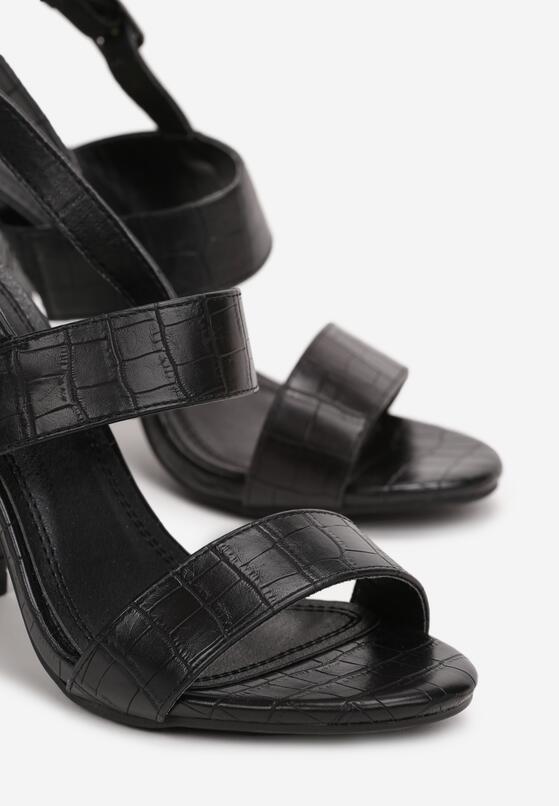 Czarne Sandały Prisophila