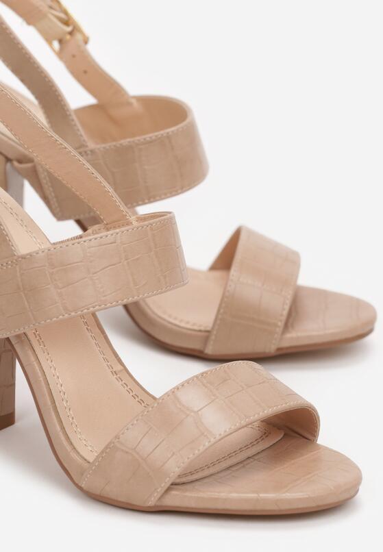 Beżowe Sandały Prisophila