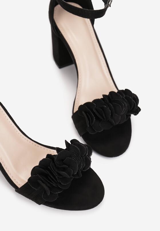 Czarne Sandały Meniphice