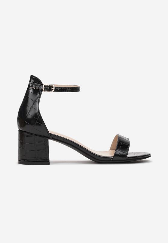 Czarne Sandały Jeniemare