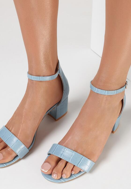 Jasnoniebieskie Sandały Jeniemare