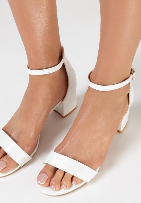 Białe Sandały Jeniemare