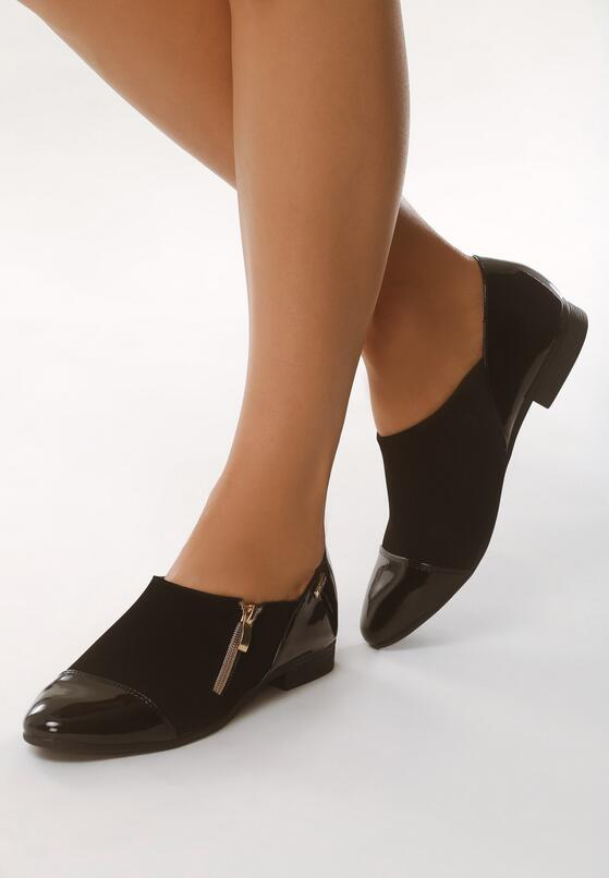 Czarne Półbuty Elegance