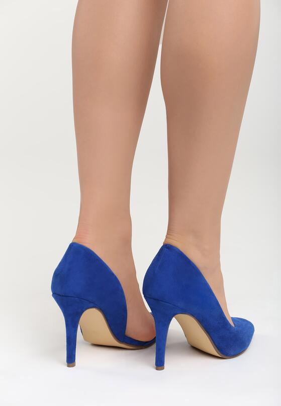 Niebieskie Szpilki Nude