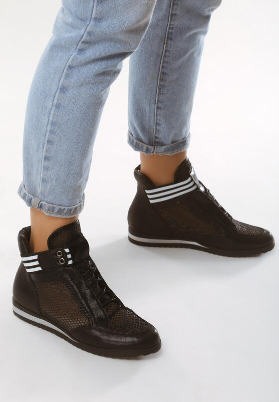 Czarne Sneakersy Singer