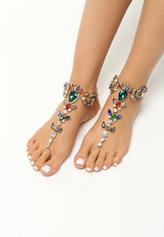 Zielona Biżuteria na Stopy Diamonds