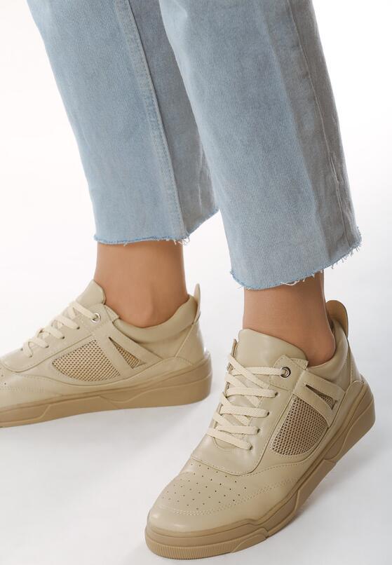 Beżowe Buty Sportowe Creativity