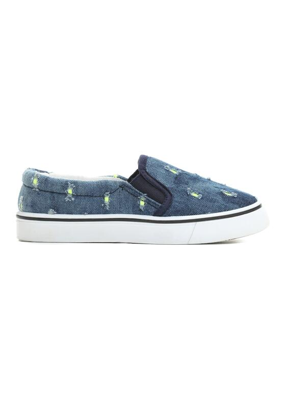 Zielone Slip On Dot On Sky