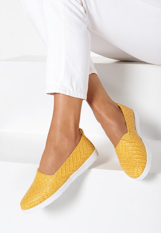 Żółte Slip On Show Love