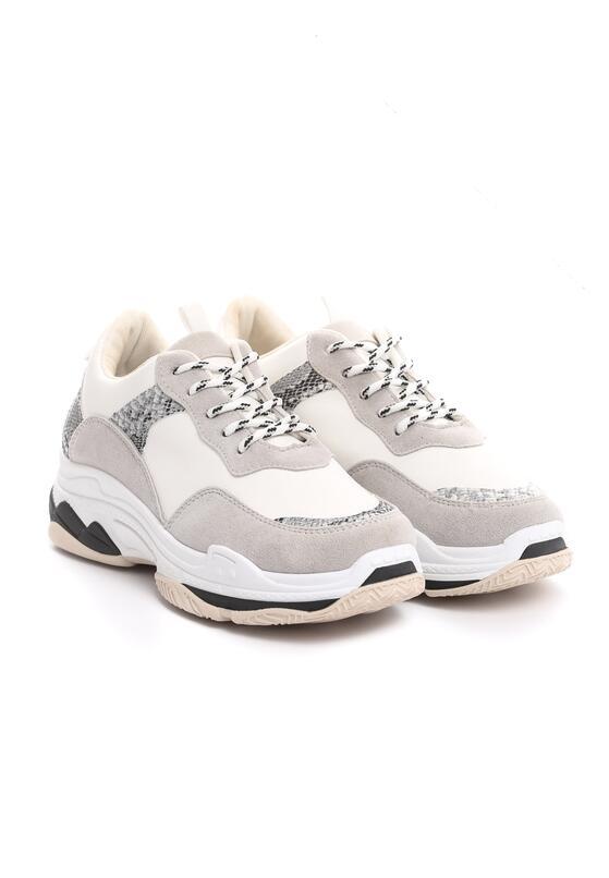 Białe Wężowe Sneakersy Anaphalis