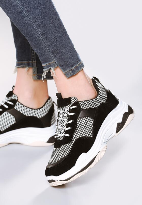 Czarne Sneakersy Outracing
