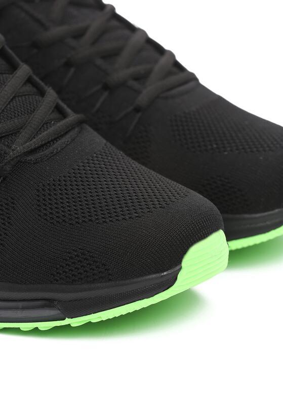 Czarno-Zielone Buty Sportowe Generalize