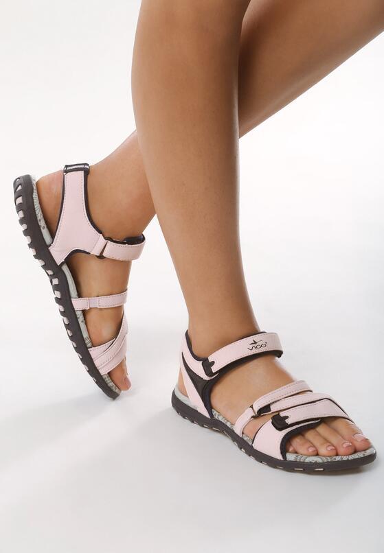 Różowe Sandały Cribbed