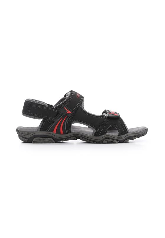 Czarno-Czerwone Sandały Dumbfounding