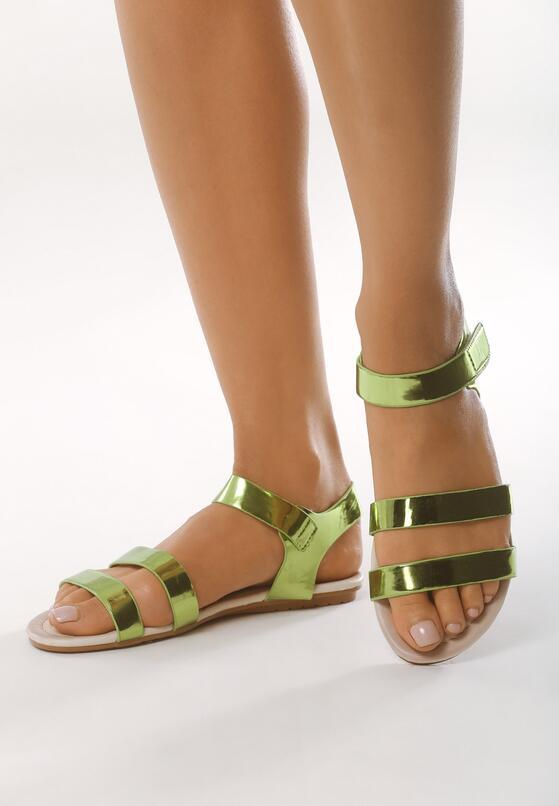 Zielone Sandały Watercolour