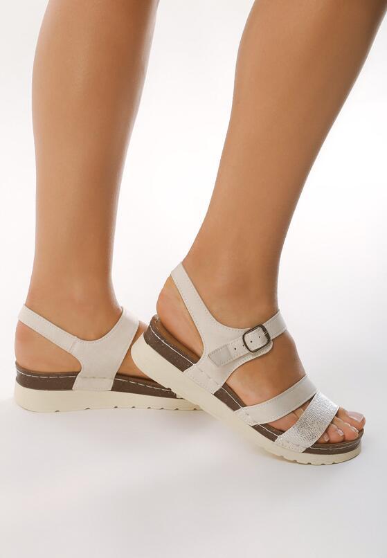 Beżowe Sandały Sentiency