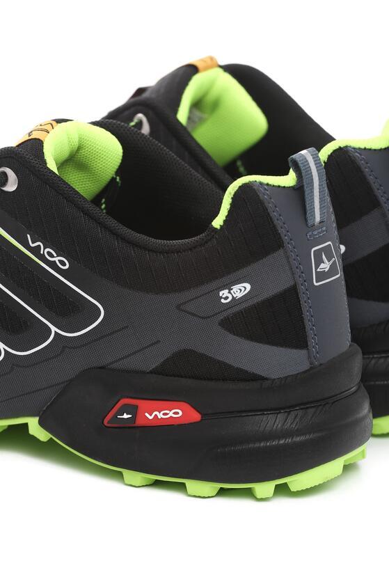 Czarno-Zielone Buty Sportowe Feel For