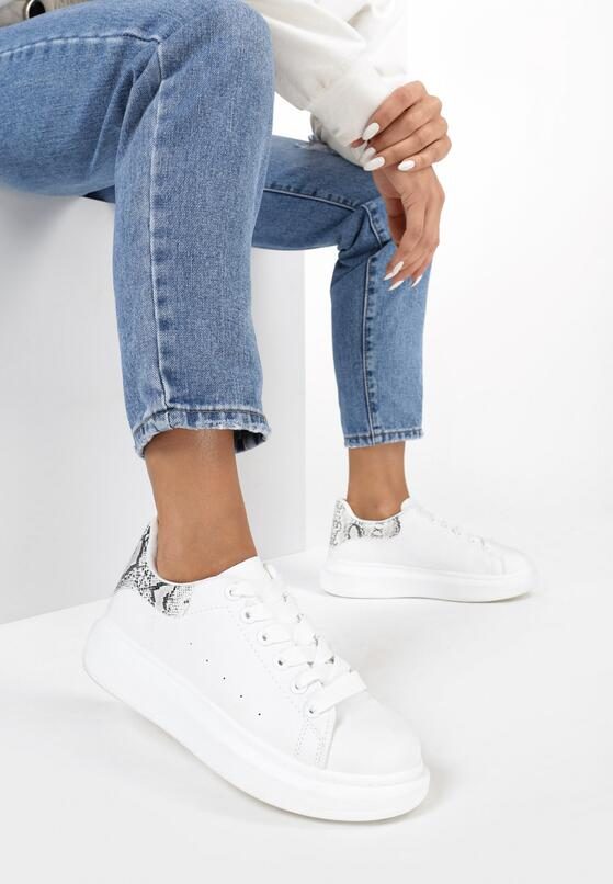 Biało-Wężowe Sneakersy  Welling