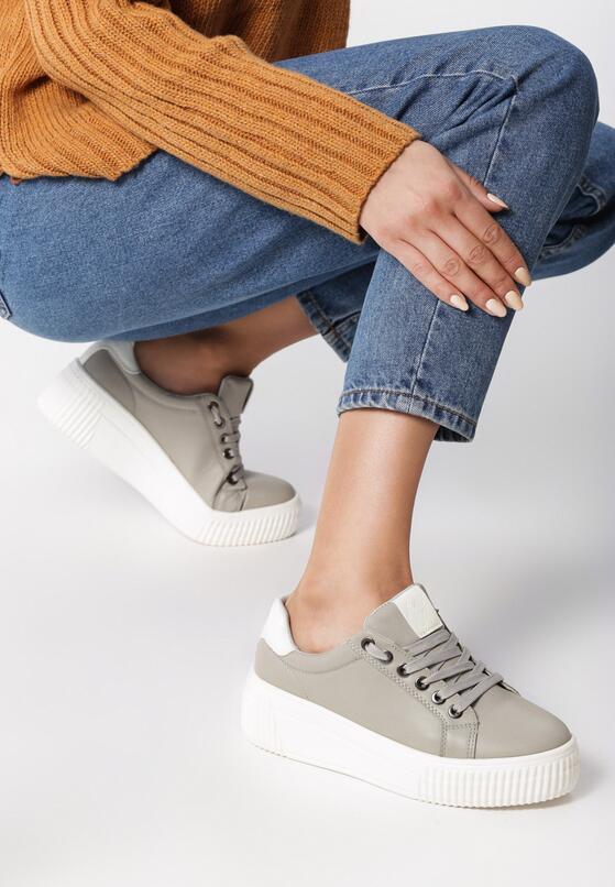 Szare Sneakersy Fainéant