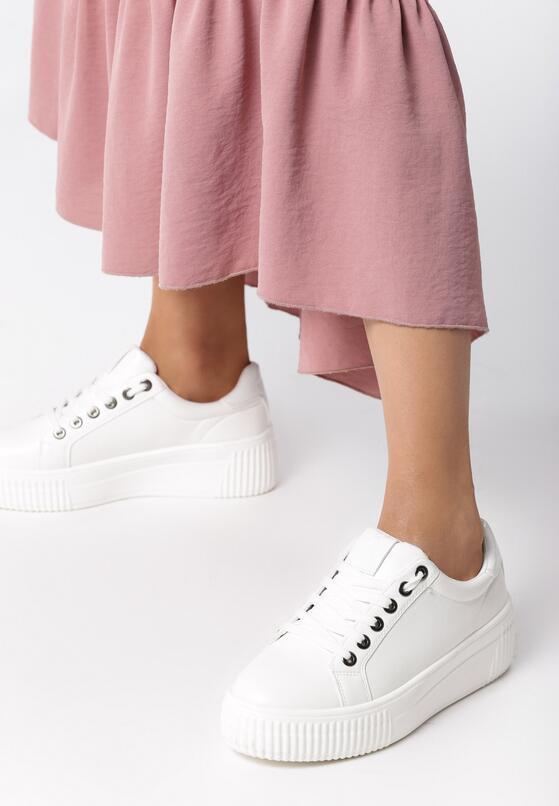 Białe Sneakersy Fainéant