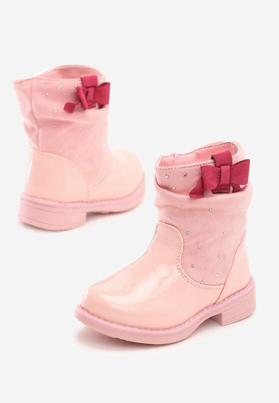 Różowe Botki Casey