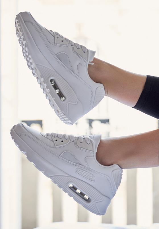 Białe Buty Sportowe Classic Nilda