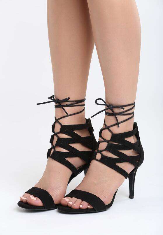 Czarne Sandały Puerta