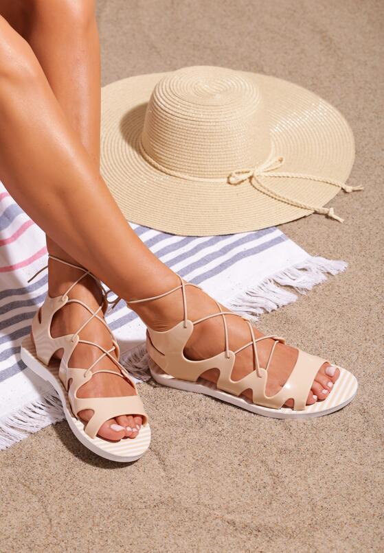 Beżowe Sandały Vertex