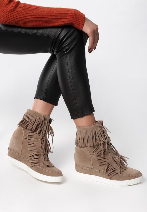Beżowe Sneakersy Ginny