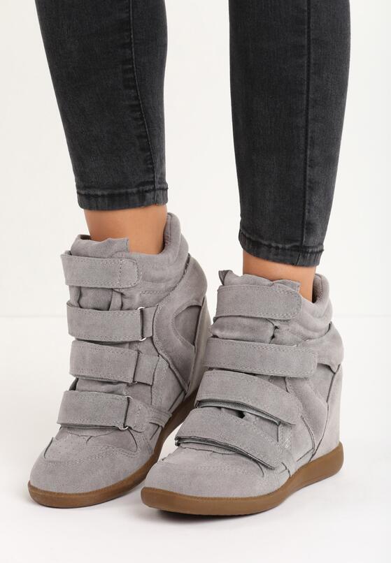 Szare Sneakersy Debbie