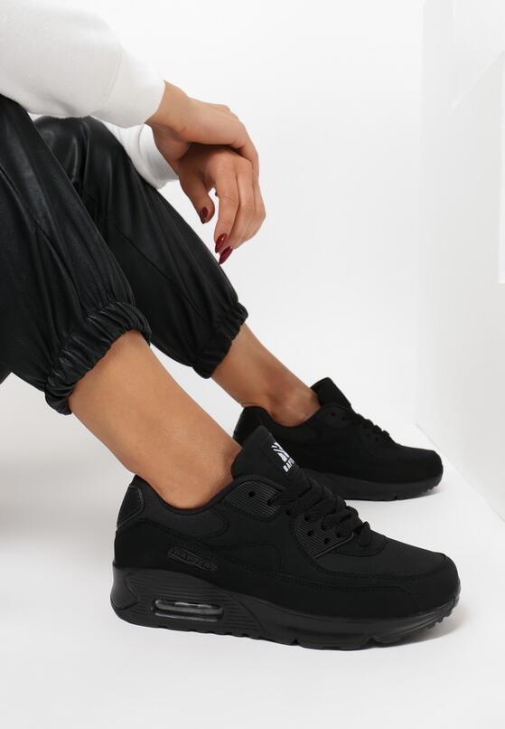 Czarne Buty Sportowe Vintage Nillda