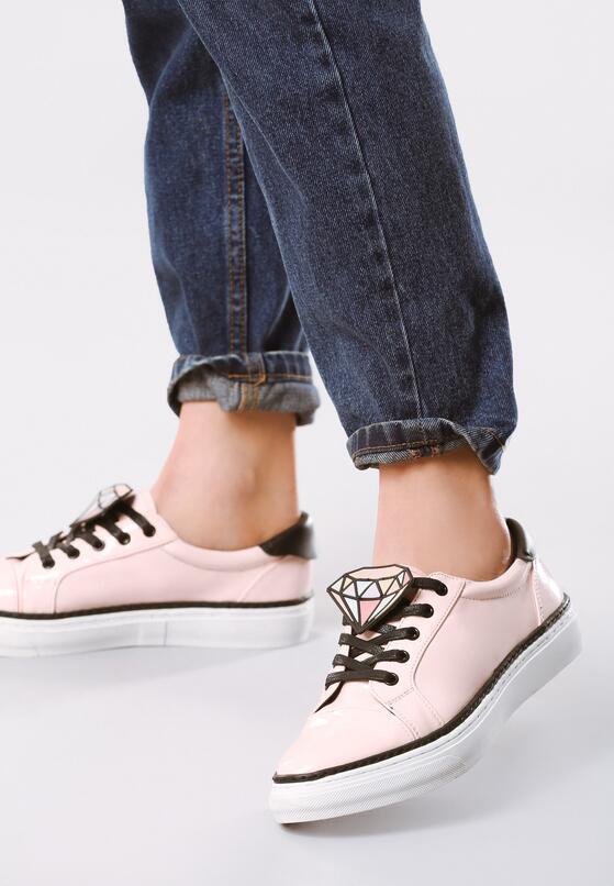 Różowe Buty Sportowe Daimond
