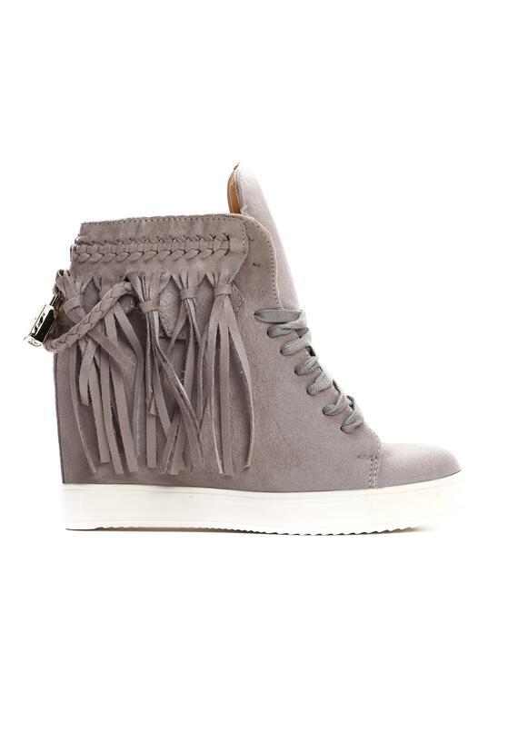 Szare Sneakersy Laverne
