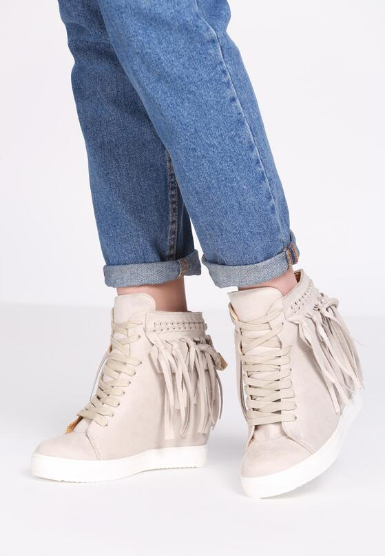 Beżowe Sneakersy Laverne