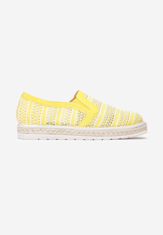 Żółte Slip On Small Wave