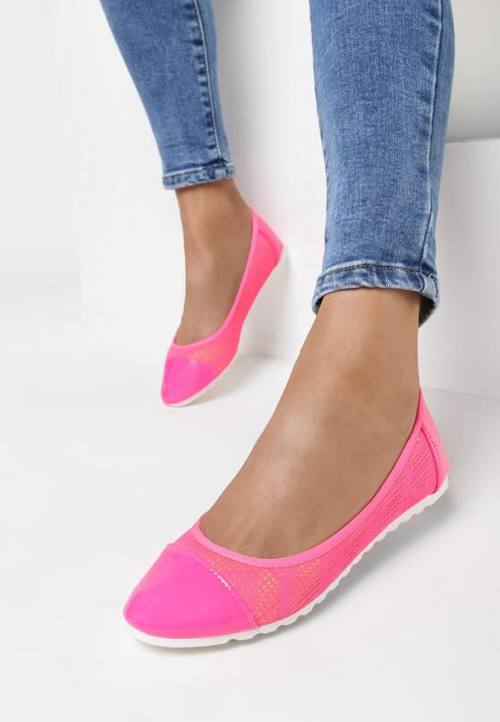 Różowe Neonowe Baleriny Ranes