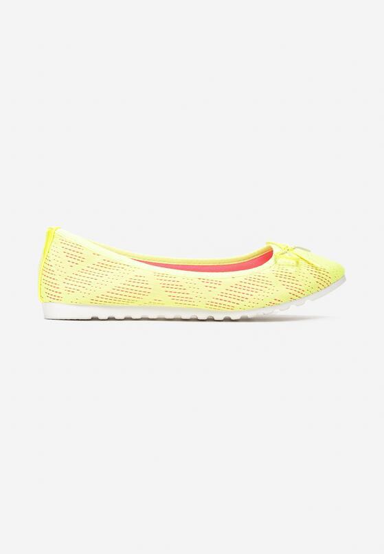 Żółte Neonowe Balerinki Parvi