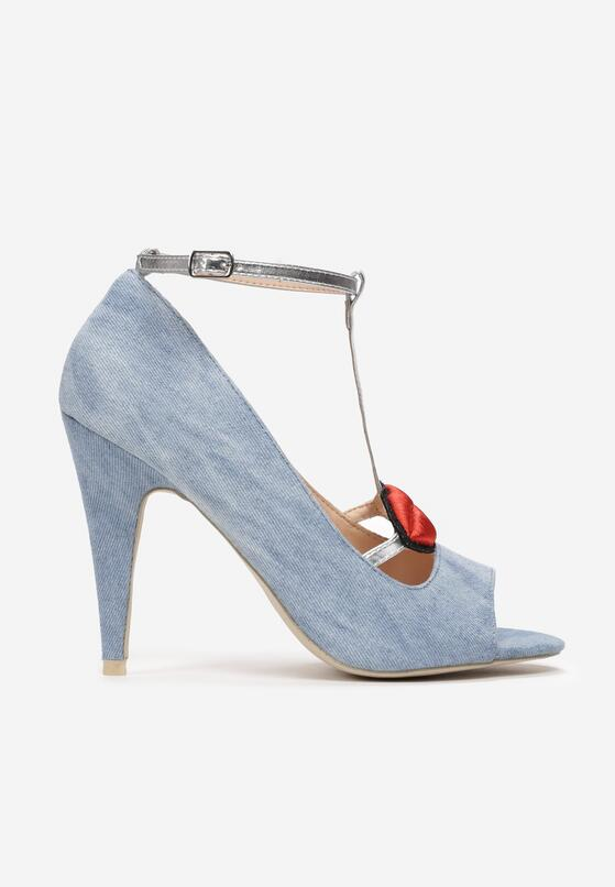 Niebieskie Sandały Red Lips