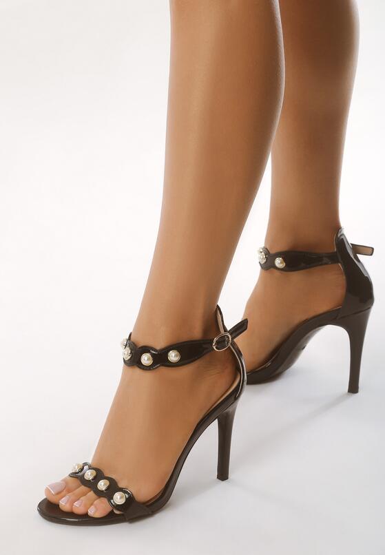 Czarne Sandały Gratitude