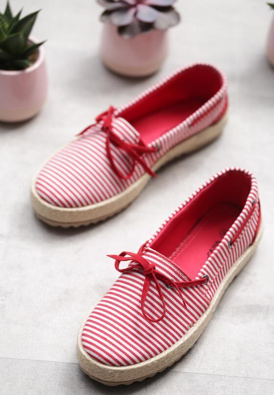 Czerwone Espadryle Blurred Lines
