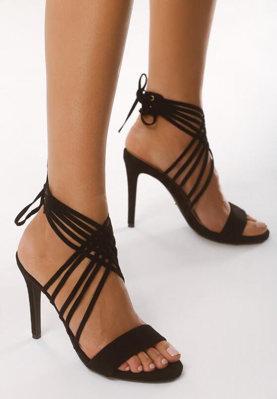 Czarne Sandały Bottommost