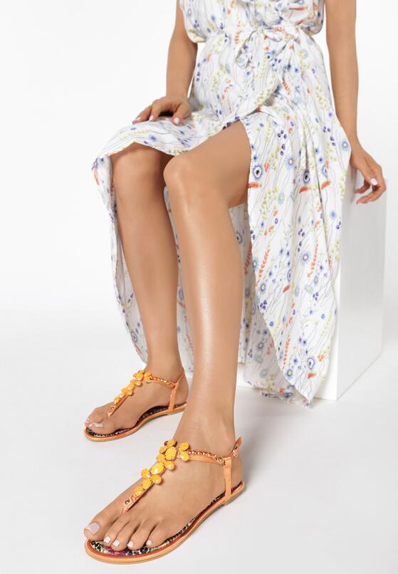 Pomarańczowe Sandały Ember