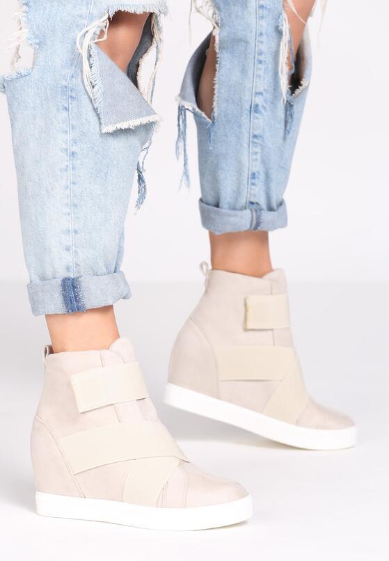 Beżowe Sneakersy Merni
