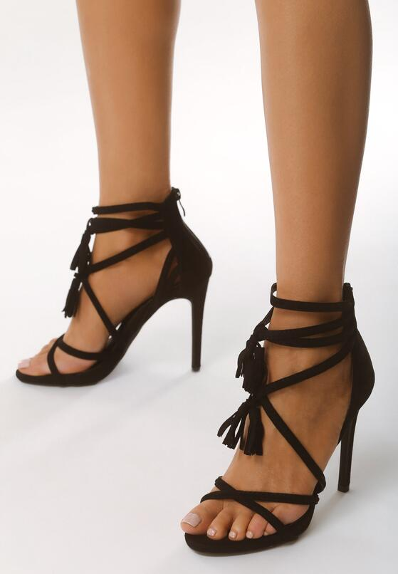 Czarne Sandały Wiren