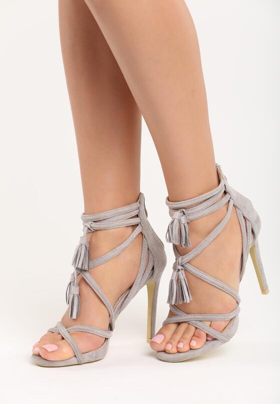Szare Sandały Wiren
