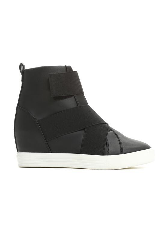Czarne Sneakersy Maritta