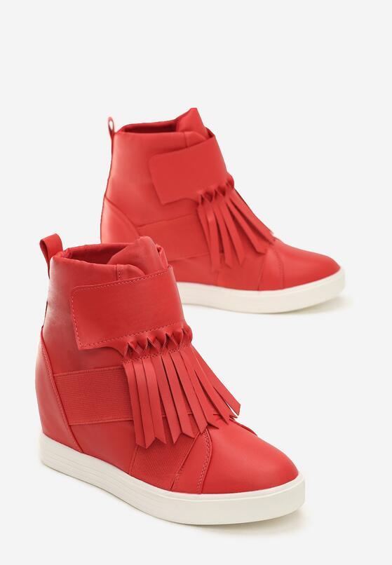 Czerwone Sneakersy Maritta